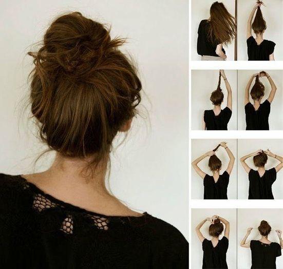 Причёска на каждый день пучок