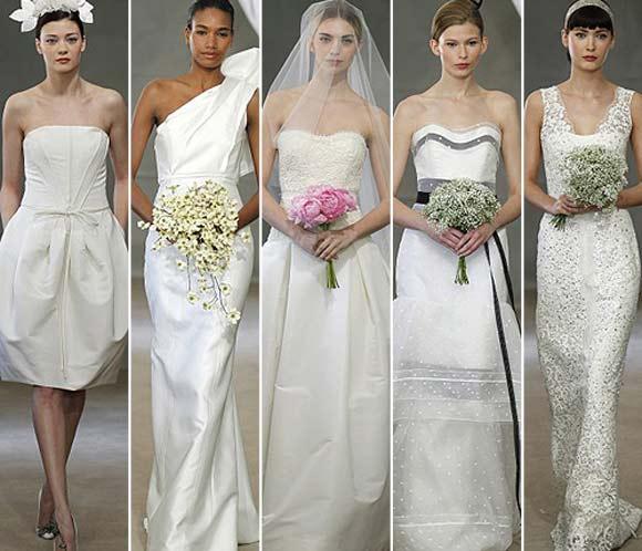 Фото стильных платьев для свадьбы