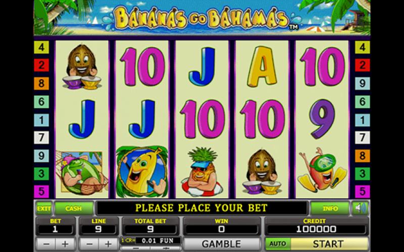 Игровой автомат Bananas go Bahamas в казино онлайн Миллион